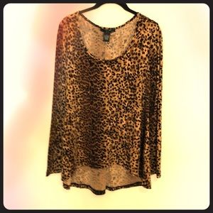 Grace cheetah print shirt